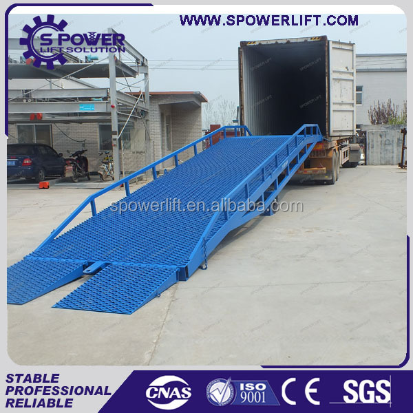 Pipe container unloading lifting ramp equipment