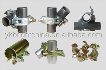 galvanized scaffolding pipe clamp handrail system 42mm fittings