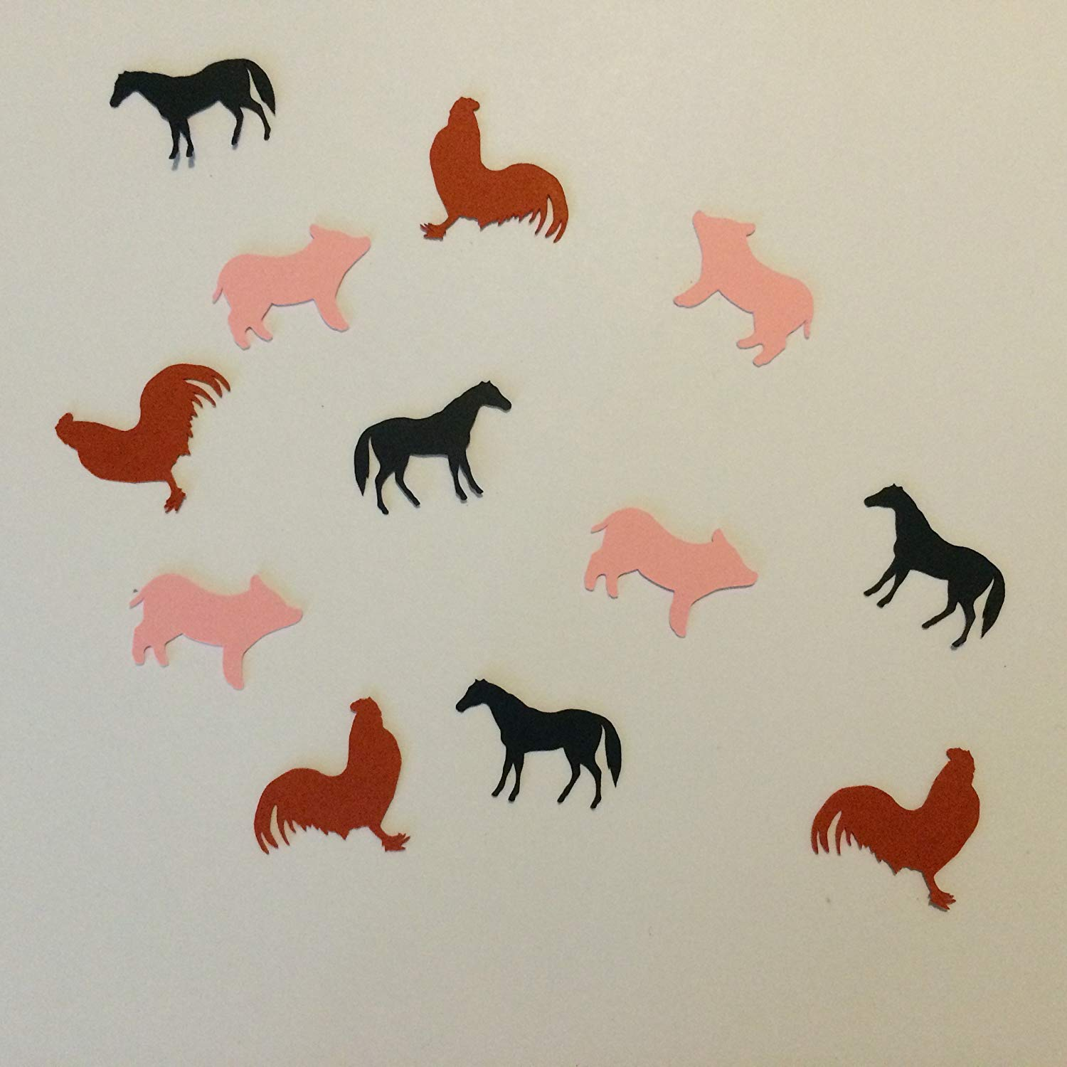 1in Confetti Set, Rooster Cut Outs, Pig Cut Outs, Horse Cut Outs, Animal Theme, Farm Animal Theme, Animal Decorations, Table Scatter, Confetti