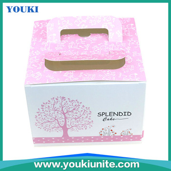 Cheap Customized Paper Cardboard Birthday Cake Boxes Foldable Art Paper Pink Color Paper Cake Box With Handle Buy Paper Cake Boxes Cheap Paper