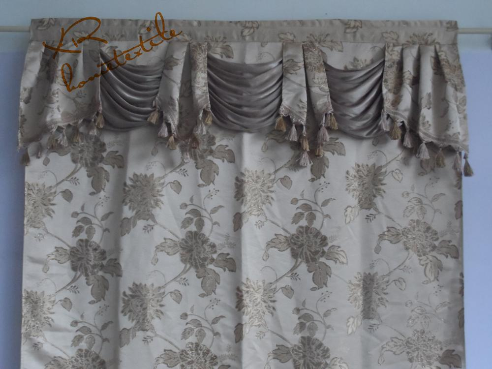 hot sell jacquard valance window curtain patterns