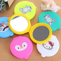 Round Silicone Hand Pocket Cosmetic Mini Mirror