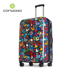Printing luggage cover fashion pattern hard shell suitcase