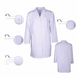 lab-2013 Wholesale Best Quality Brushed Doctor White Lab Coats