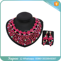 African Jewelry Charms Crystal Jewelry Box Crystal Jewelry Necklace Sets