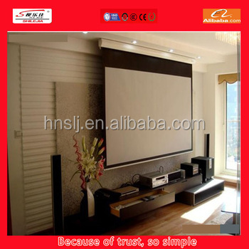 the newly style kevlar fabric electric projection screen