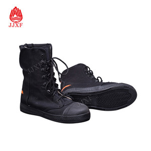 Fire Fighter Rescue summer boots / Rubber Sole Canvas Boots