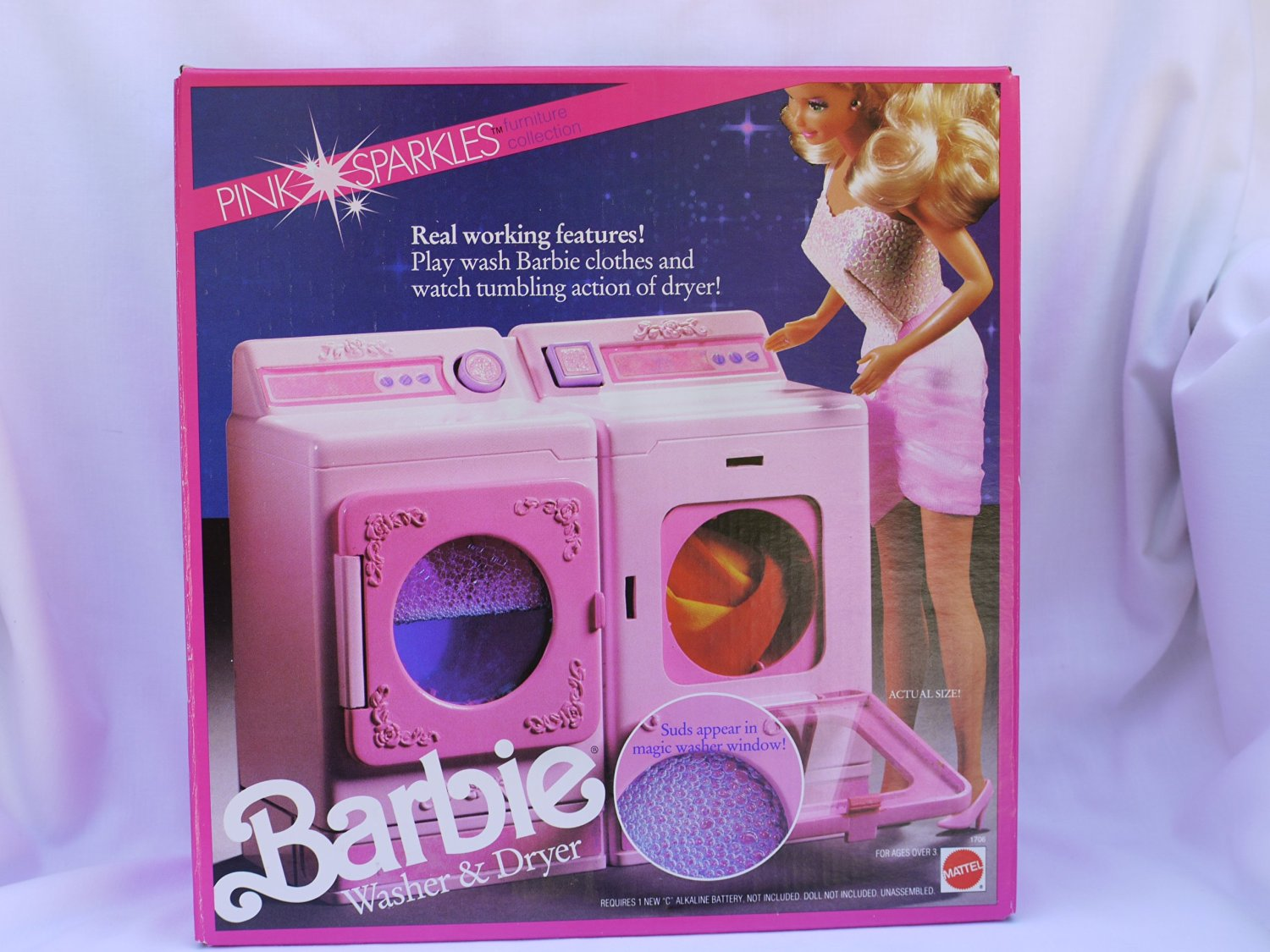 Pink Sparkles Washer and Dryer - 1990M