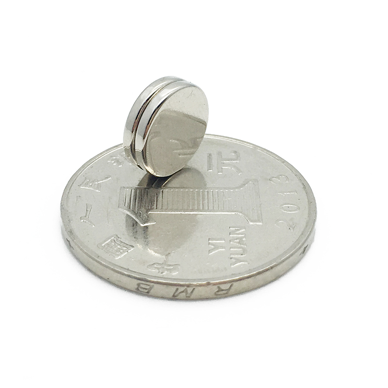 flat-faced armature type circular magnet 10mm x 2mm