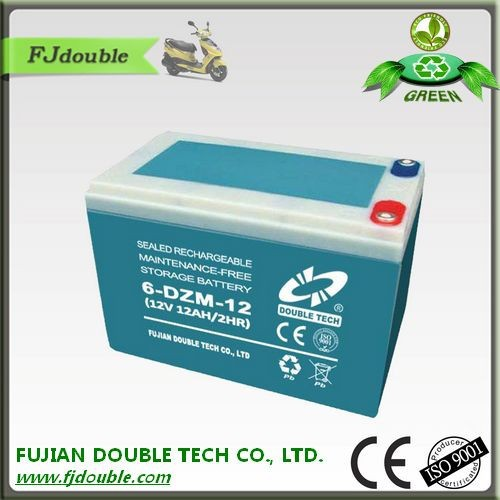 electric car bateries 6-dzm-12 12v 12ah agm batteries