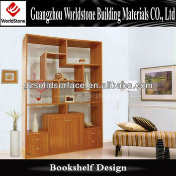 Living Room Design Wood Showcase In Guangzhou