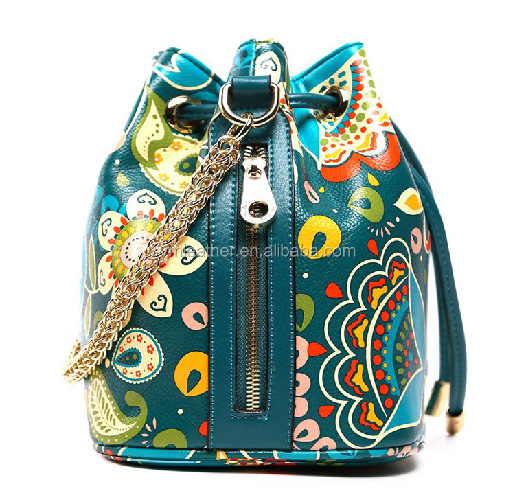 2016 new style backpack with spain printing flower spain printing lady backpack womens backpack made in china