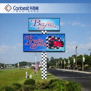 30% Energy Saving street advertising p8 p10 p16 smd huge outdoor led display to saudi arabia