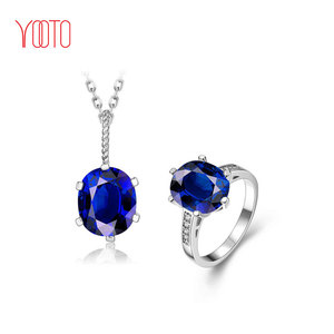 Artificial american royal blue bridal diamond jewellery sets