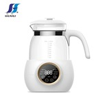 Electric glass jar 1200ml 800W Keep warm 45/55/70/85/90 temperature for different function for baby milk kettle