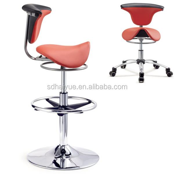 special design saddle chair beauty salon saddle stool with comfortable backrest - Saddle Chair