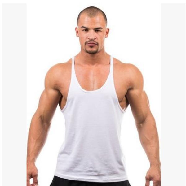 e8bb4295b74420 Top Quality mens blank gray color gym stringer singlet for gym sportswear