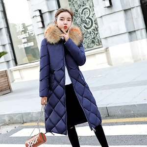 SC2011 Warm Thick Hooded Long Down Parkas Women Down Jacket Winter Coat Cotton Padded Jacket Coat Female