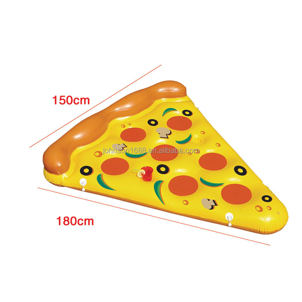 2016 China manufacturer party inflatable swimming pool floating toys Inflatable Pizza Raft