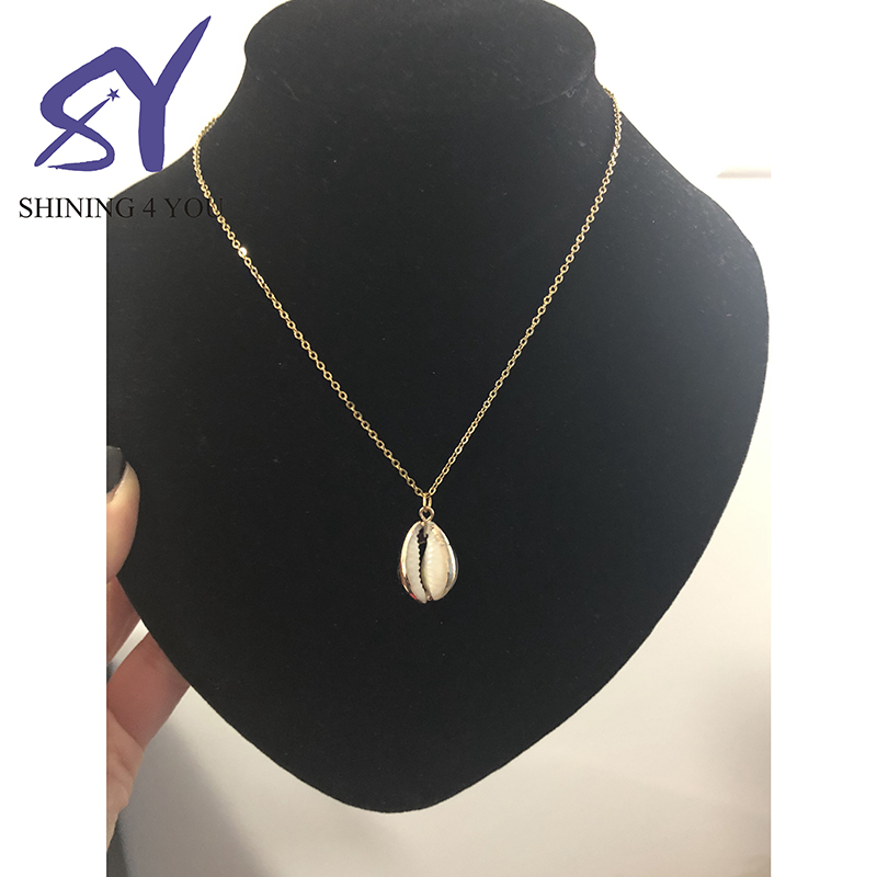 New Arrival Women Ocean Jewelry Stainless Steel Shell Pendant Necklace