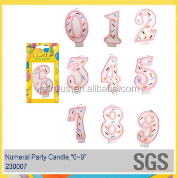 Pink Number Cake Party City Candle