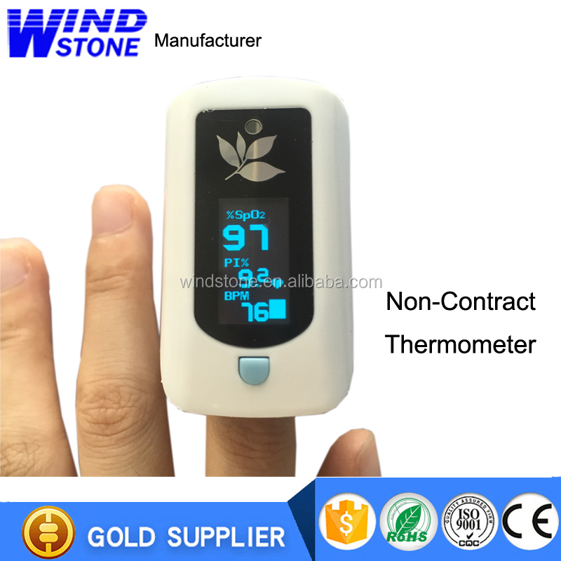 Hot sale in 2019 CE Approved Hot Selling Pulse Oximeter Fingertip With Temperature function