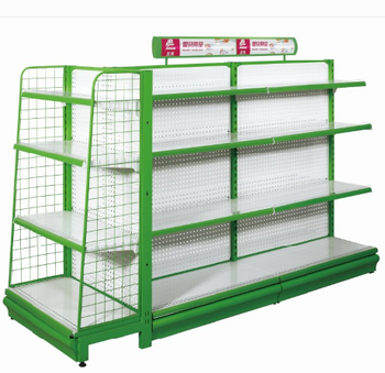 Cheap price grocery store retail display stand racks gondola shelving supermarket racks
