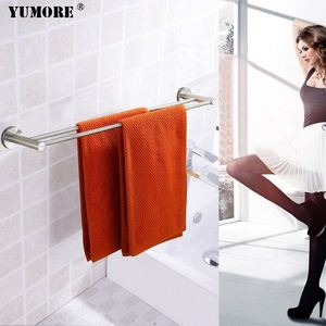 Modern swing arm stainless steel magnetic bronze suction extension double swivel gold heated shower bathroom towel bar