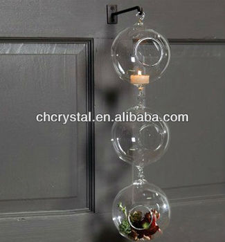 80mm 3inch Glass Orb Terrarium With 2 Loops Glass Globe Hanging