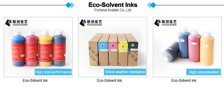 Piezo Inkjet Printer Ecosolvent Eco-solvent Ink For Banner