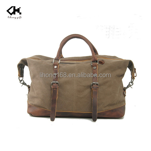 Vintage style fashion duffel canvas bags for travel