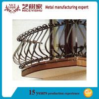 alibaba beautiful customized popular new design models wrought iron balcony screen/luxury ornamental aluminum balcony balustrade