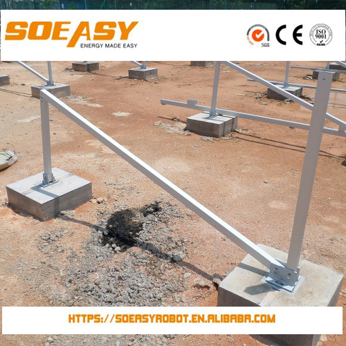 concrete base and thin film solar panel mount system with high value or flat roofing solar kit