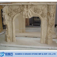 Cheap Limestone Travertine Fireplace Mantel French Classic Fireplace Mantels