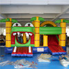 The newest high quality inflatable bouncer castles alligator bouncy castle with slide crocodile inflatable bouncy house