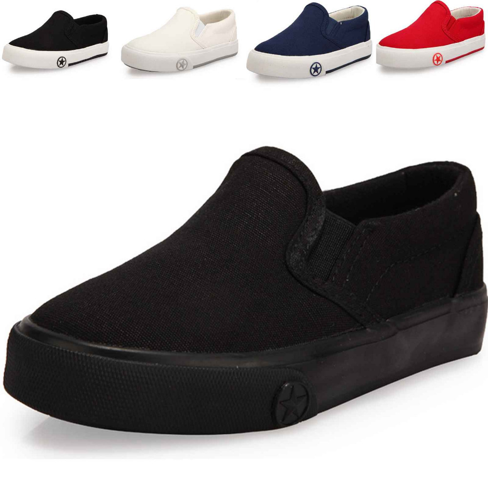 New Boy's Girls Canvas Breathable Sneakers Shoes For Children Size 23-37 Flats With Heels Casual Sports Little Kid And Big Kids