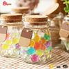 100ml Mini wholesale glass bottles with cork lid pudding yogurt candy jars