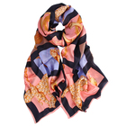 New fashion pantone color orange silk scarf digital print custom design