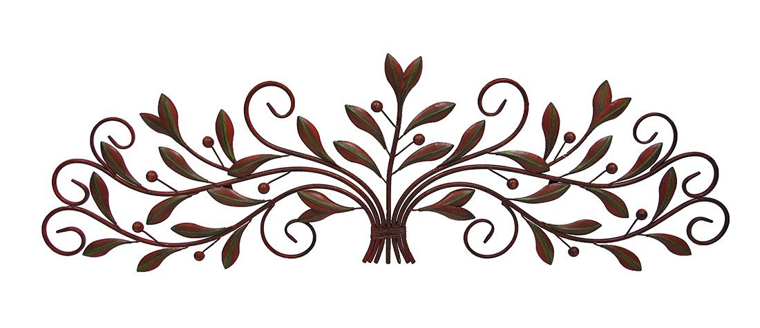 Scrolling Metal Olive Branch Over The Door Wall Decor 48 In