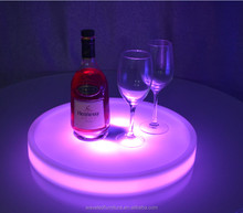 Fashionable light up serving tray round