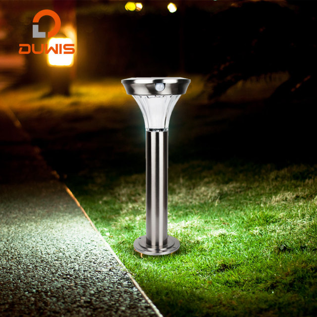 Waterproof Motion Sensor Lamp Ed Landscape Lights Stainless Steel Wireless Garden Outdoor Led Solar Bollard