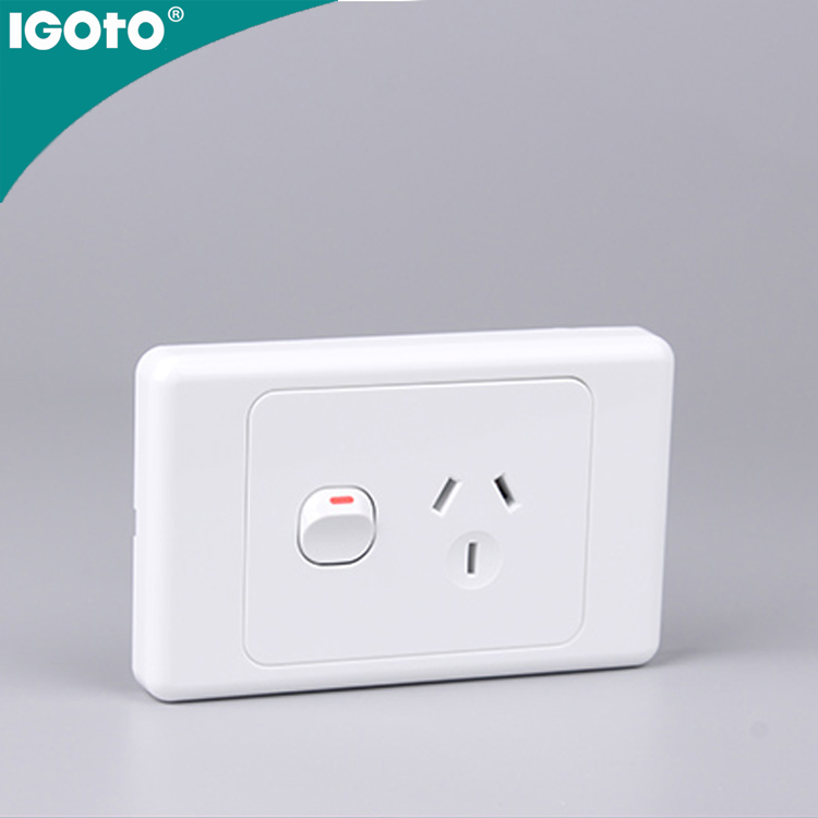 AS313 Australian standard 10A horizontal single powerpoint zigbee wall <strong>switch</strong> Classical style top quality <strong>switch</strong>&socket 2+1