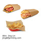 Greaseproof burger food wrapping deli wrap paper
