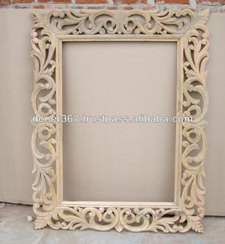 Wooden Big Hand Carved Mirror Frame Buy Big Size Wooden
