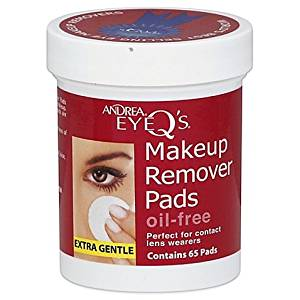 Andrea Eye Q's 65-Count Extra Gentle Oil-Free Eye Makeup Remover Pads