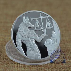 Egypt Anubis,The Scale of trial Coin, Factory direct sales cheap custom gold souvenir metal coin for sale antique