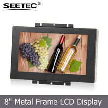 easy mounting 8'' resistive HDMI VGA input car touchscreen monitor with brilliant colour