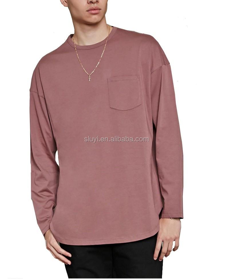 Long sleeve pocket t shirt online shopping india t shirts for T shirt design wholesale