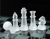 Wholesale clear crystal international chess, natural jade stone chess sets