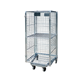 Warehouse cargo transport galvanized wire mesh roll container, roll cage trolley, rolling cage cart